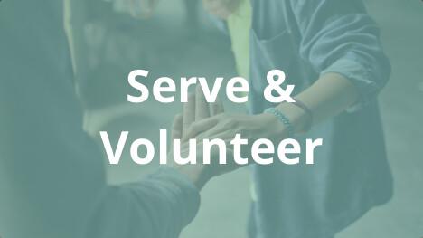 Serve/Volunteer button
